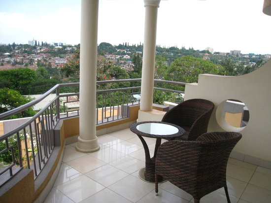 Amaris Hotel Rwanda: View from a bedroom private balcony