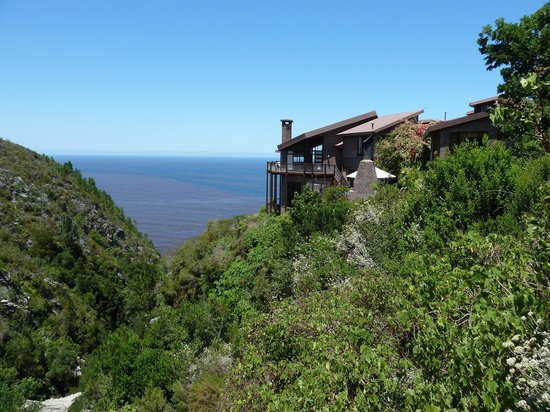 The Fernery Lodge & Chalets: View of the hotel and gorge