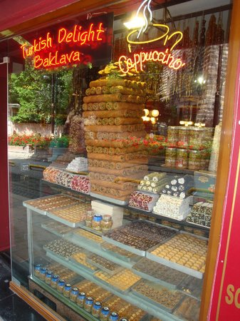 The Empress Theodora Hotel: Turkish delight and sweets shop near of the hotel