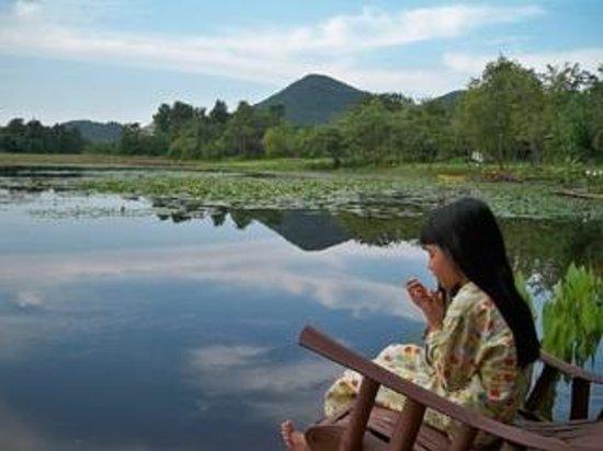 Golden Lake View Boutique Resort: มุมสบาย