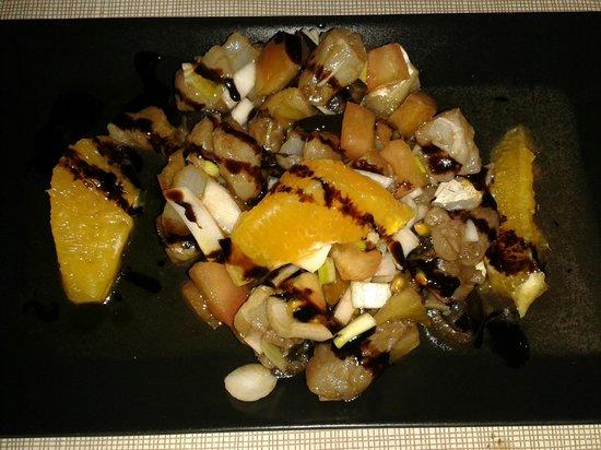L'Antic Barri Bell : Ensalada de bacalao con tomate y naranja