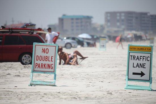 Beach at Daytona Beach: Driving on the beach