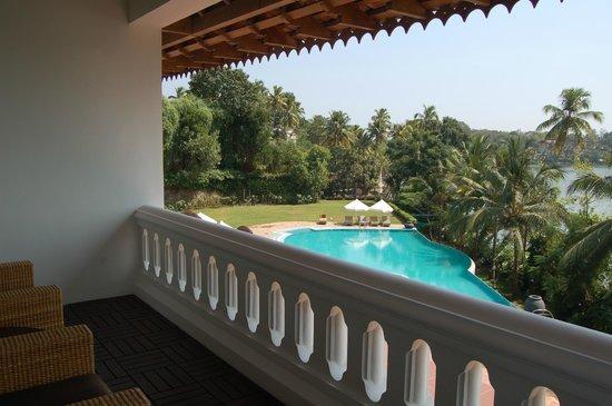 The Raviz Resort and Spa, Ashtamudi : View of pool  from balcony