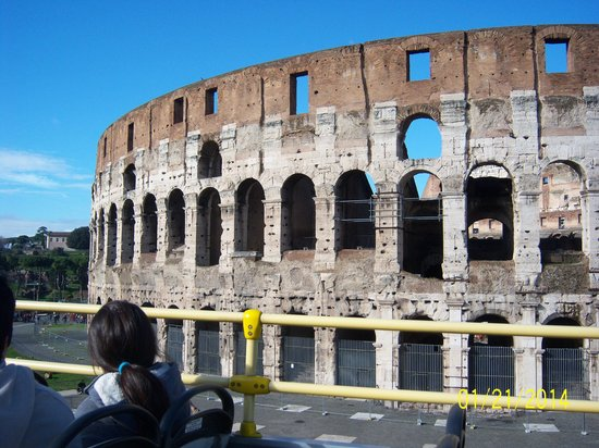 Starhotels Metropole: Colesseum from Ciao Roma Bus Tour