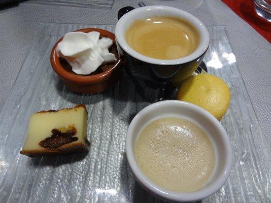 A la cantonade : Café gourmand (après plat du jour : 14 euros)