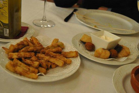 Restaurante Casa Palacio Bandolero: berenjenas fritas
