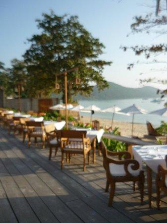 Santhiya Koh Yao Yai Resort & Spa : Blick beim Frühstück