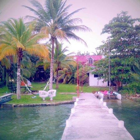Casa Tortuga: No tiene piscina pero esto es lo que se encuentra al final del jardín