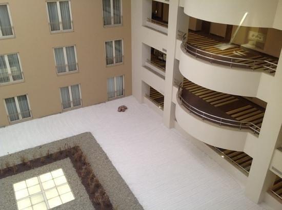 """Radisson Blu Conference & Airport Hotel: окна выходят во внутренний крытый """"дворик"""""""