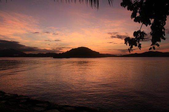 Vivanta by Taj Rebak Island, Langkawi: sunrise view from the sea facing rooms or the beach.