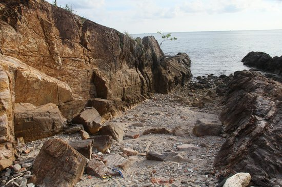 Vivanta by Taj Rebak Island, Langkawi: one of oldest sedimentray rock exposures on the western edge of the resort.