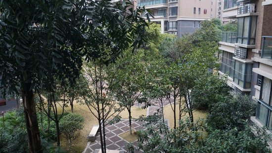 Qiongjia Family Apartment : garden view