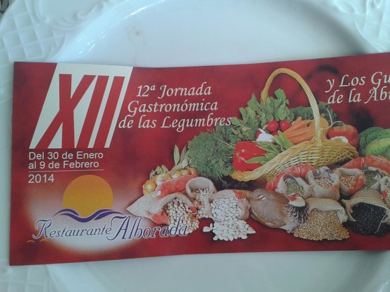 Restaurante Alborada : Fijense bien