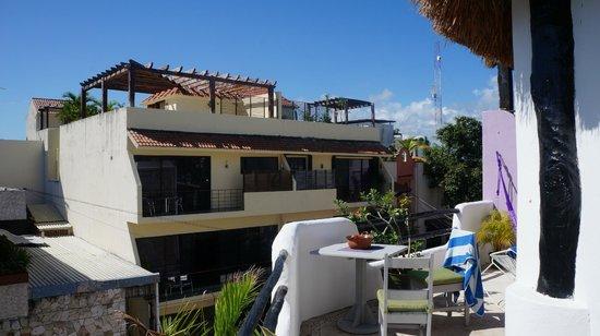 Hotel Quinto Sol: Вид с балкона