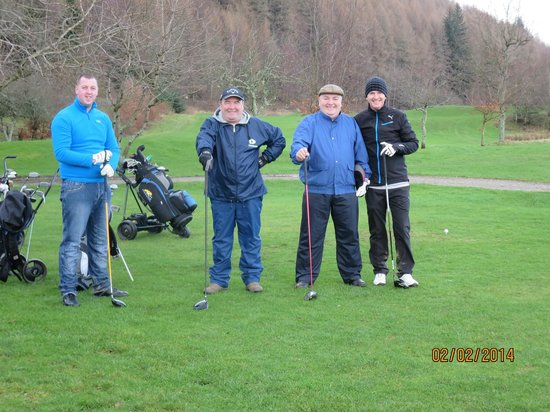 Mains of Taymouth Cottages: The happy golfers