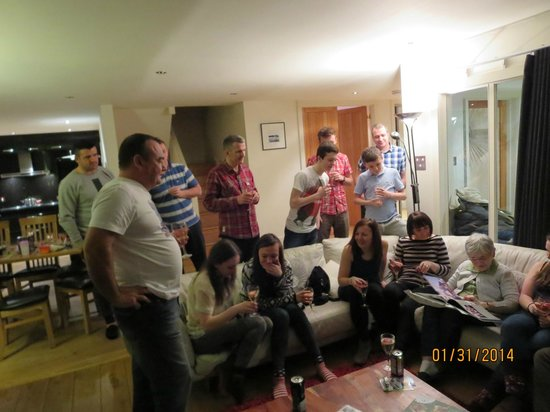 Mains of Taymouth Cottages: Mum opening her Birthday Album with her life in pictures