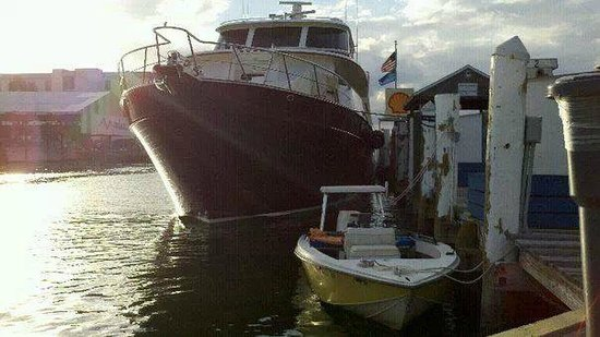 On the boat at Maximo Seafood Shack...the yellow one;)