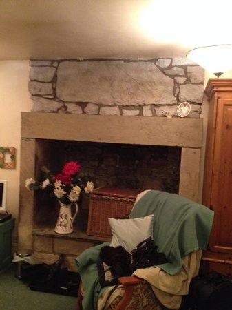 York House B&B: beautiful fire place