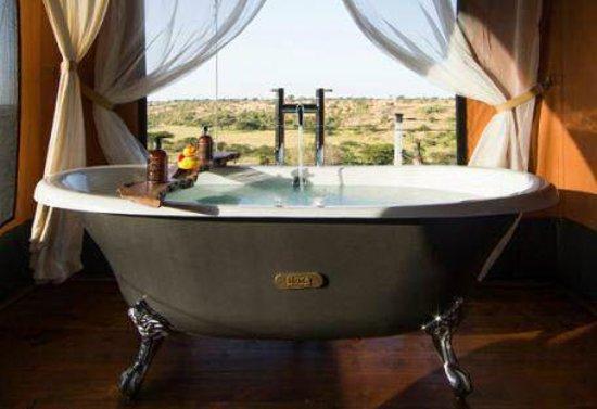 Mahali Mzuri   Sir Richard Bransonu0027s Kenyan Safari Camp: Classic And Luxury  Bathtub
