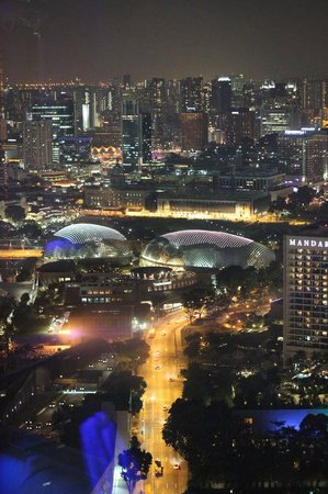 Esplanade - Theatres on the Bay: Esplanade from the Singapore Flyer