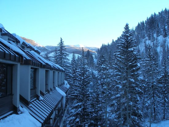 Hotel Talisa, Vail: View east from upper floor of hotel