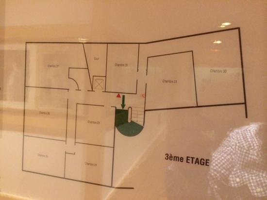 Hotel du Levant : план 3 этаж