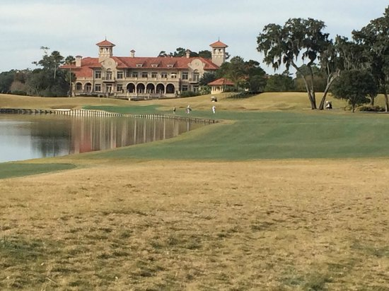 TPC at Sawgrass Stadium Course : View up the 18th