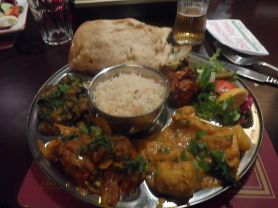 Nobanno Lakeside Indian Restaurant: The Thali at Nobanno's - absolutely beautiful!