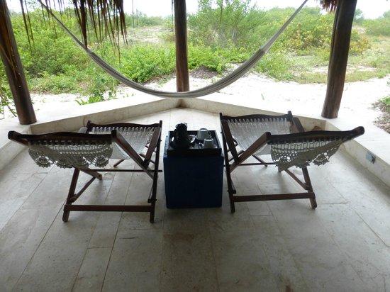Hotel Xixim: Our bungalow porch
