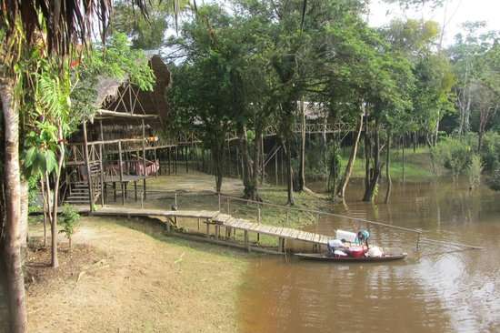 Amazonia Expeditions' Tahuayo Lodge: Lodge dock from the laboratory walkway