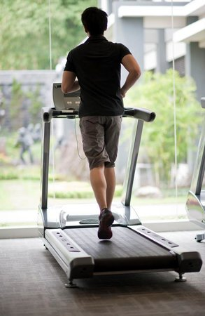 Griya Persada Convention Hotel & Resort: great view even from fitness room