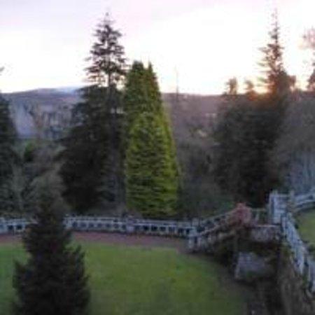 Kildrummy Castle Hotel: View of the Castle at dawn from my room - romantic yes?
