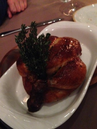 Table 9 : A must have dish - corn fed chicken