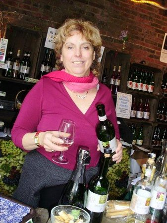 Sedlescombe Organic Vineyard: Your 'hostess with the mostes' Irma Cook
