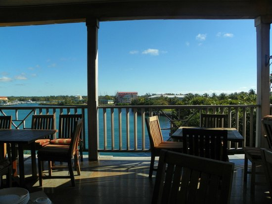 Pelican Bay at Lucaya: View from the breakfast dining room.