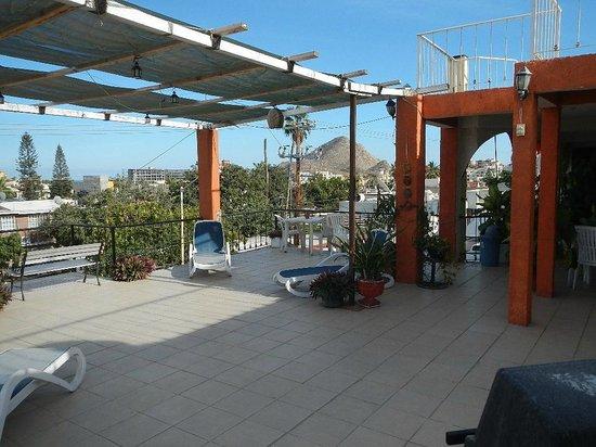 Bajas Cactus Hotel y Hostel : Nice sunny terrace