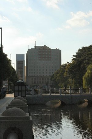 Hotel JAL City Matsuyama: Street-View of Hotel from Park