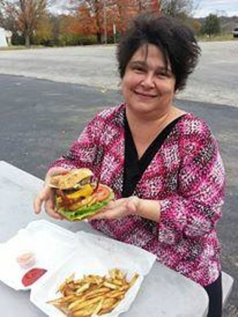 Mama Mango's Shaved Ice of Cassville: Burger and Fries