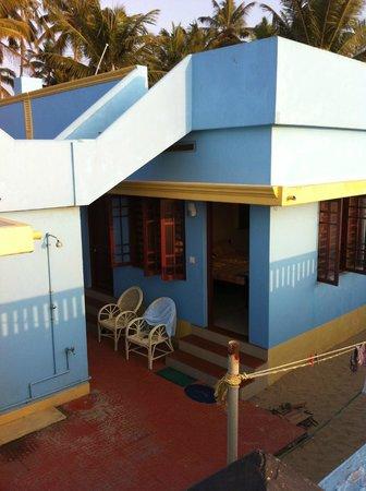 Panioty's Villa: view from beach