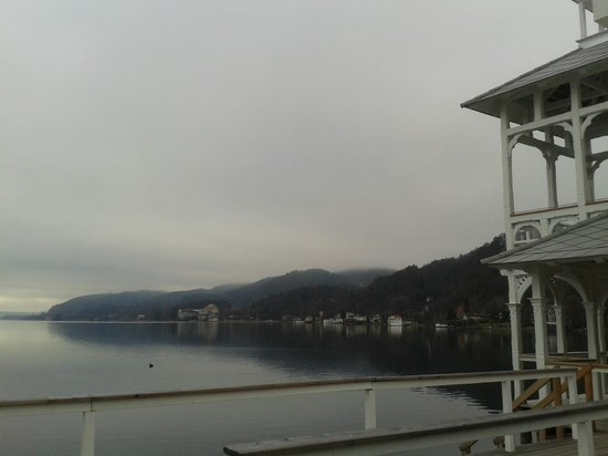 Wörthersee: View from restaurant  hotel on the lake