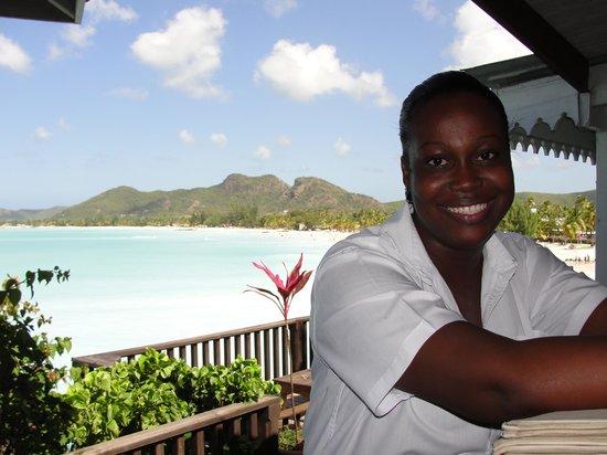 COCOS Hotel Antigua: Anishia (restaurant supervisor) a lovely happy person