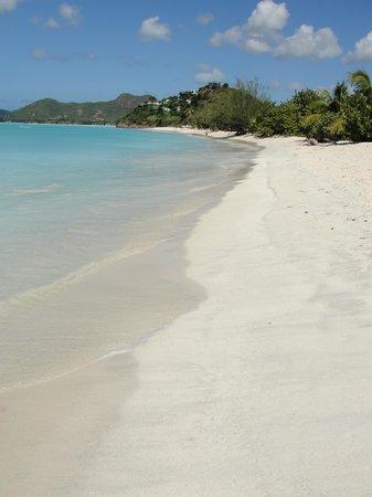 COCOS Hotel Antigua: From Cocobay looking towards Cocos - deserted beach