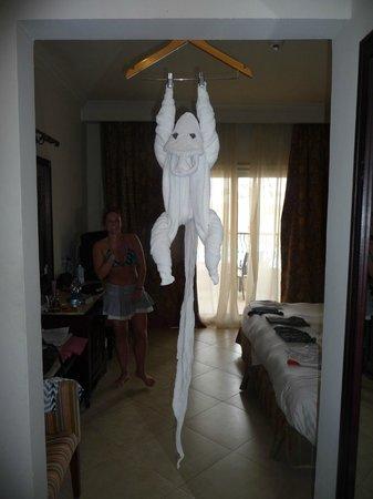 Tirana Aqua Park Resort : Monkey towel art