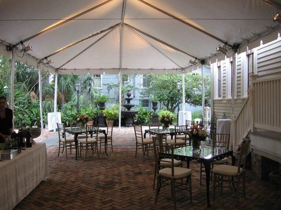Degas House: Tented Seated Event in Courtyard