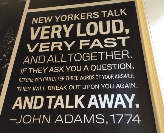 Museum of the City of New York : Loved this graphic from the staircase.
