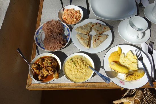 The Blue View Inn : Sri Lankan breakfast