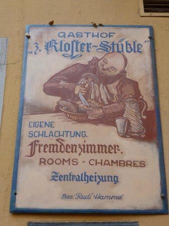 Hotel Klosterstueble: Hotel sign