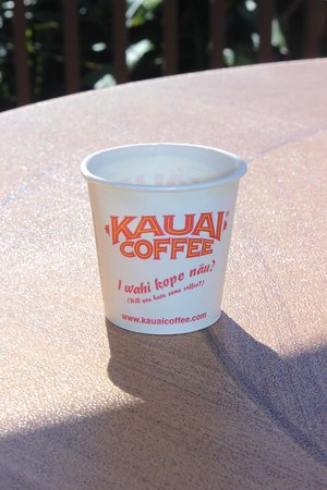 Kauai Coffee Company: Sampling cup