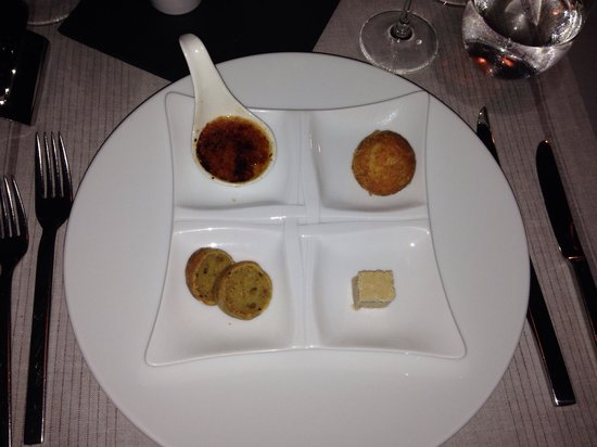 Kuramathi Island Resort: Fois Gras four ways at Duniye (we liked two & didn't like two)