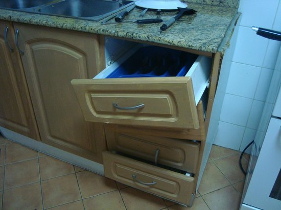 Desert Rose Hotel Apartments : faulty drawers